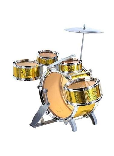 Sunman Sunman 1080080 Jazz Drum Tabureli  Oyuncak Bateri Seti Renkli